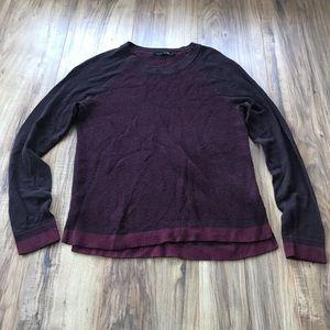 Rag & bone wine burgundy long sleeve sweater